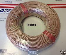 200 Meters RF Coax Coaxial Connector Adapter RG316 BARE cable NO CONNECTORS USA