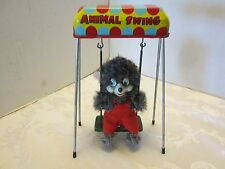 BEAR ANIMAL SWING WIND-UP TIN LITHO TOY JAPAN 1960's Mid Century Unisex N.G.T.A.