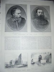 Burne-jones and Henry Moore new associates Royal Academy 1885 print ref AM