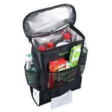 Multi-Pocket Backseat Auto Organizer with Insulated Cooler - 22 Pound Capacity