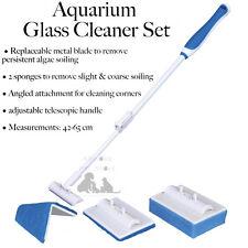 Aquarium Glass Screen Cleaner Set Marine Tropical Tank metal blade, Sponge 89234