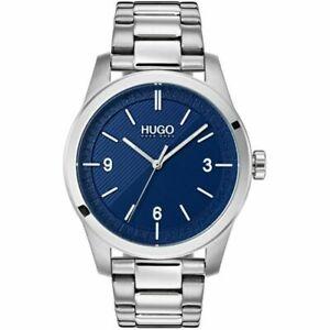 Hugo Boss Create Stainless Steel, Silver & Navy Men's Watch - 1530015