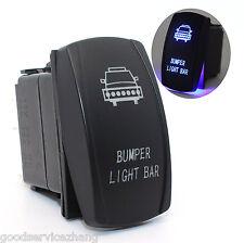 Laser Rocker Switch Backlit Car Front Bumper Light Bar Blue Light 5 Pins Offroad