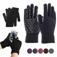 Men Women Winter Warm Snow Gloves Touchscreen Windproof Thick Knit Thermal Gift