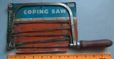 New ListingVintage Oxwall Coping Wood handle Saw Woodworking Tool with Blades