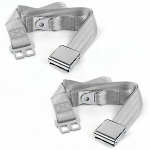 Early Cars 1933 1934 Airplane 2 Pt. Gray/Grey Lap Bucket Seat Belt Kit 2