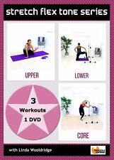 Barre Stretch Fusion DVD Barlates Body Blitz STRETCH FLEX TONE 3 Workouts