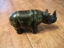 Avon Green Wild Rhino Decanter - Empty Bottle