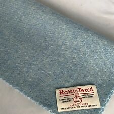 Harris Tweed Lana De Color Azul Pálido Tela 75 cm X 50 Cm Gratis Etiquetas Ideal Craft