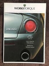Aston Martin Works Torque Customer Magazine Spring 2003 12th Edition. DB7 Zagato