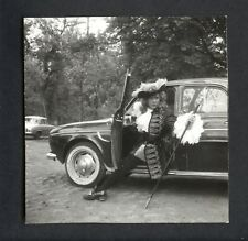 Renault Caravelle, actor. Paris. 1950's. Vintage photo. G504