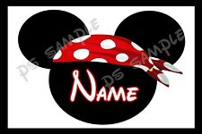 4x6 Disney Cruise Stateroom Door Magnet - MICKEY PIRATE PERSONALIZED