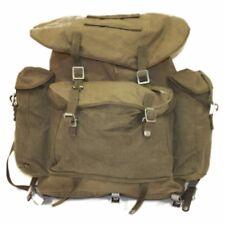 Alpine Rucksack German BW Mountain Troops Backpack Canvas Yolk Straps OD VTG VGC