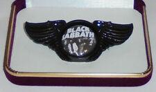 Black Sabbath Ozzie War Pigs Rock Band Wing Live Concert Hat Jacket Badge Pin BS