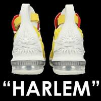 "NIKE HFR x LEBRON 16 ""HARLEM STAGE"" LOW XVI BRIGHT CITRON MEN'S CI1145-700 13"