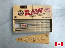 RAW Classic Pre-Rolled Rolling Paper Cone 98 Special (20 Cones/Pack)