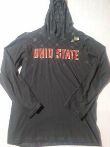 Men's Size Small Nike NCAA Ohio State Long Sleeve Hooded Shirt Royal