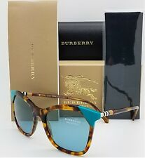 39181d7dffa6 NEW Burberry Sunglasses BE4263 371080 54mm Brown Havana Azure Blue GENUINE  4263