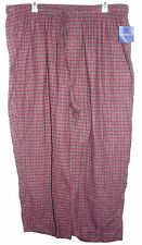 Men's Croft & Barrow Burgundy & Gray Checked  Lounge Pants - Size 4XB-NWT