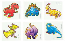 144 Dinosaur Temporary Tattoos, Party Favor, Vending, Each With Instructions