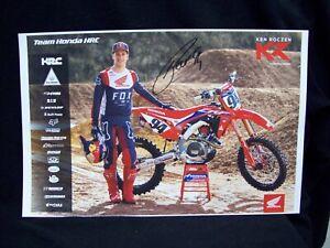 Ken Roczen Motocross Autographed 17x11 Poster.
