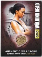 Walking Dead Seasn 4 Costume Relic Wardrobe Card Sonequa Martin-Green Sasha M29