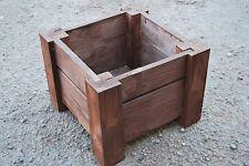 Petits cadres en bois pot 29.5x29.5x22 cm bois massif épicéa en couleur rouille