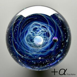 Space Glass +α Plus Alpha Tomizu Satoshi Handmade Necklace White Pearl Japan FS