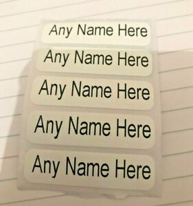 50 x Iron On Name Tags Labels Printed School Uniform Nursery Clothes Waterproof
