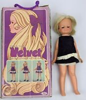 Vtg Velvet Doll Crissy's Cousin 1970 Ideal w/ Original Box and Outfit