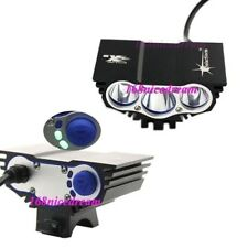 SolarStorm 3x Bulb XM-L U2 LED Bike Bicycle HeadLamp Light Lamp + 4x18650B N0046