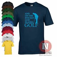 And on the 8th day God played Golf funny t-shirt golfers golfing gift present