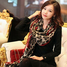 Womens Leopard Long Soft Warm Chiffon Neck Scarf Wrap Shawl Scarves Stole 17