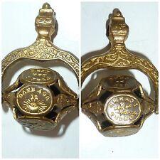 Antique Victorian Intaglio Seal multi wheel 6 wax seals picture Motto Sentiment