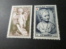 FRANCE 1950, timbres 876/877, CROIX ROUGE, RED CROSS neufs**, VF MNH STAMP