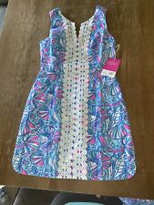 New Lilly Pulitzer For Target My Fans Bright Colorful Shift Dress Womens Size 6