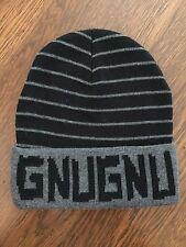 GNU Nug Burton Beanie Hat Toque Sample - Black Gray - AWESOME - RARE