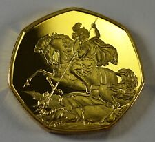 ST GEORGE & THE DRAGON 24ct Gold Commemorative. Albums/Filler/Token Collectors