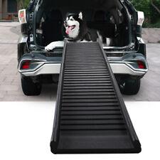 "61"" Folding Non-Slip Dog Ramp for Large Pet Trunk Back Seat Ladder Step Car Suv"