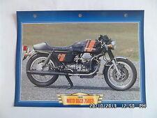 CARTE FICHE MOTO MOTO GUZZI 750 S3 1976