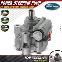 Power Steering Pump w/o Pulley for Dodge Ram Dakota Mitsubishi Raider 21-400