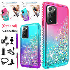 For Samsung Galaxy Note20/Ultra 5G Liquid Glitter Bling Case Cover Accessories