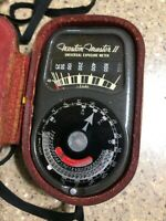 Vintage Weston Master II 2 Universal Exposure Light Meter 735 w/ Leather Case