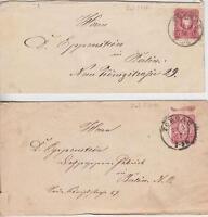 DR Mi Nr. 33 2x EF auf Briefen, beide mit K2 Torgau - Berlin 1876 / 1877, SA3297