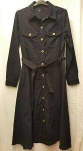 BNWT Ladies Marks and Spencer Denim Blue Shirt Dress Size 12 Regular Length (13)