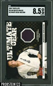 2009 Topps UFC Ultimate Gear Royce Gracie Jersey SGC 8.5 NM-MT