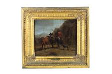 Nicholaes Berchem -Landscape w/ Peasants & Animals -17th century Oil Painting