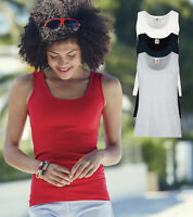 Fruit of the Loom Womens Ladies Plain Cotton Tank Camisole Top Vest Singlet