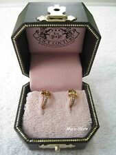 Golden Bow Huggie Earrings Nib Auth Juicy Couture Jewelry Pave