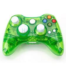 New Wireless Controller Joypad for Microsoft Xbox 360 Console Green Glow
